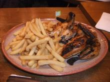 Whole chicken and large Peri fries at Mile End